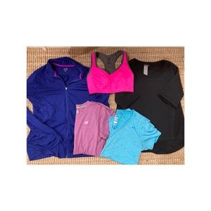 Woman's workout name brand top lot!